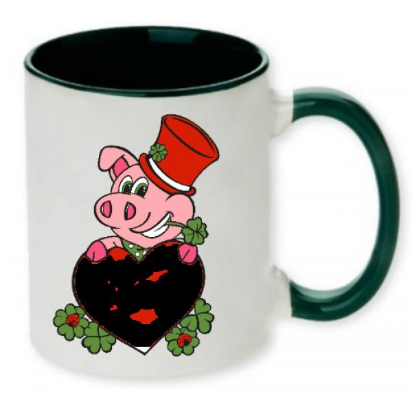 Tasse mit Glücksschwein