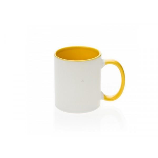 Fototasse gestalten mit eigenem Foto (gelb)